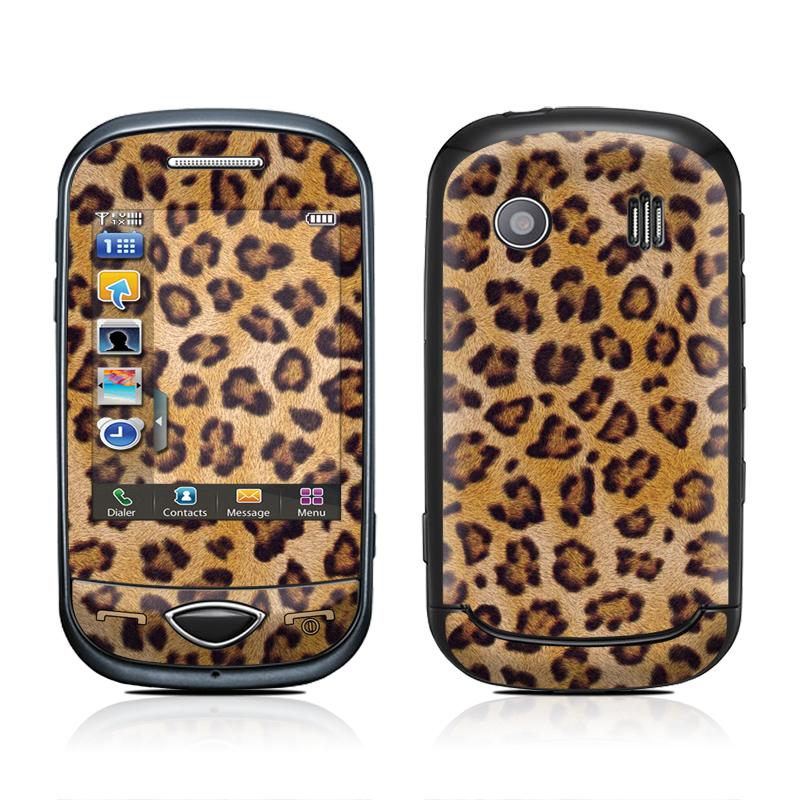 Samsung Corby Plus Skin design of Pattern, Felidae, Fur, Brown, Design, Terrestrial animal, Close-up, Big cats, African leopard, Organism with orange, black colors