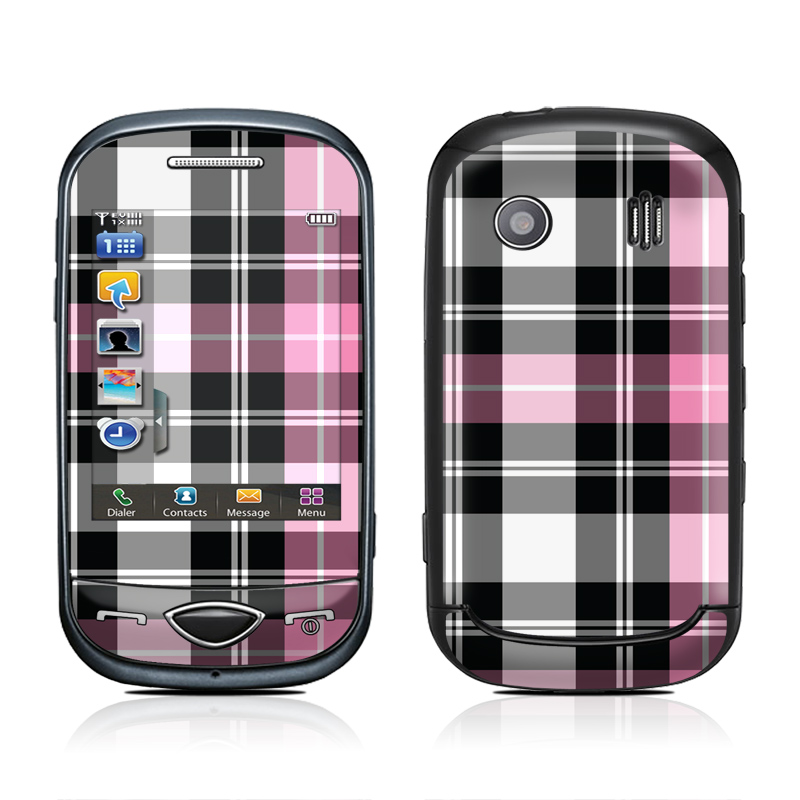 Pink Plaid Samsung Corby Plus Skin