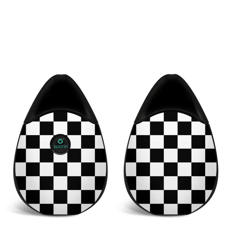 Suorin Drop Skin design of Black, Photograph, Games, Pattern, Indoor games and sports, Black-and-white, Line, Design, Recreation, Square with black, white colors