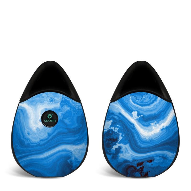 Suorin Drop Skin design of Blue, Water, Aqua, Azure, Turquoise, Pattern, Liquid, Wave, Electric blue, Design with blue, white, black colors