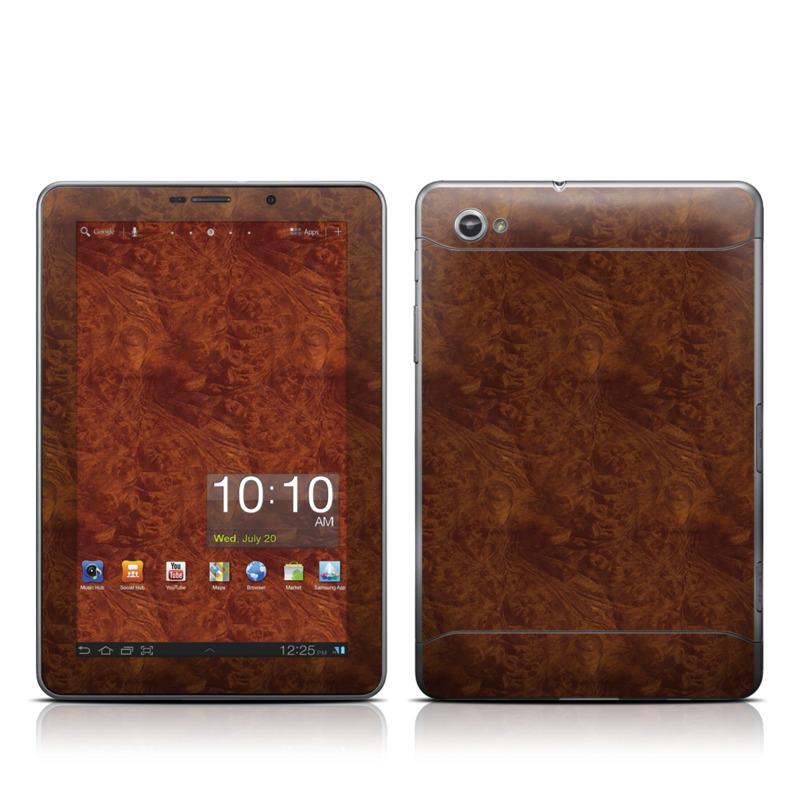 Dark Burlwood Galaxy Tab 7.7 Skin