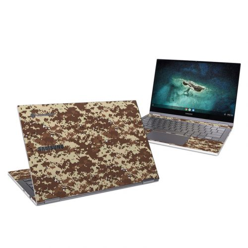 Digital Desert Camo Samsung Galaxy Chromebook Skin