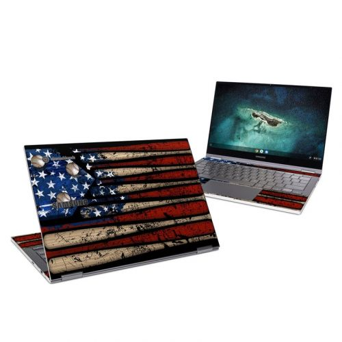 Old Glory Samsung Galaxy Chromebook Skin