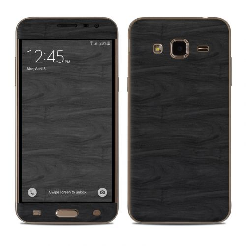 Black Woodgrain Samsung Galaxy J3 Skin