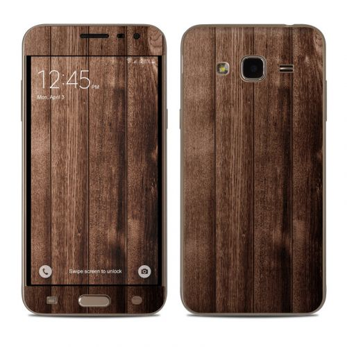 Stained Wood Samsung Galaxy J3 Skin
