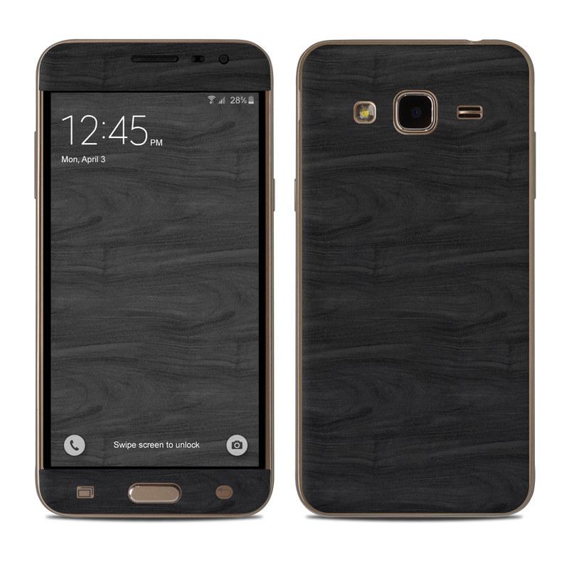 Black Woodgrain Samsung Galaxy J3 Skin