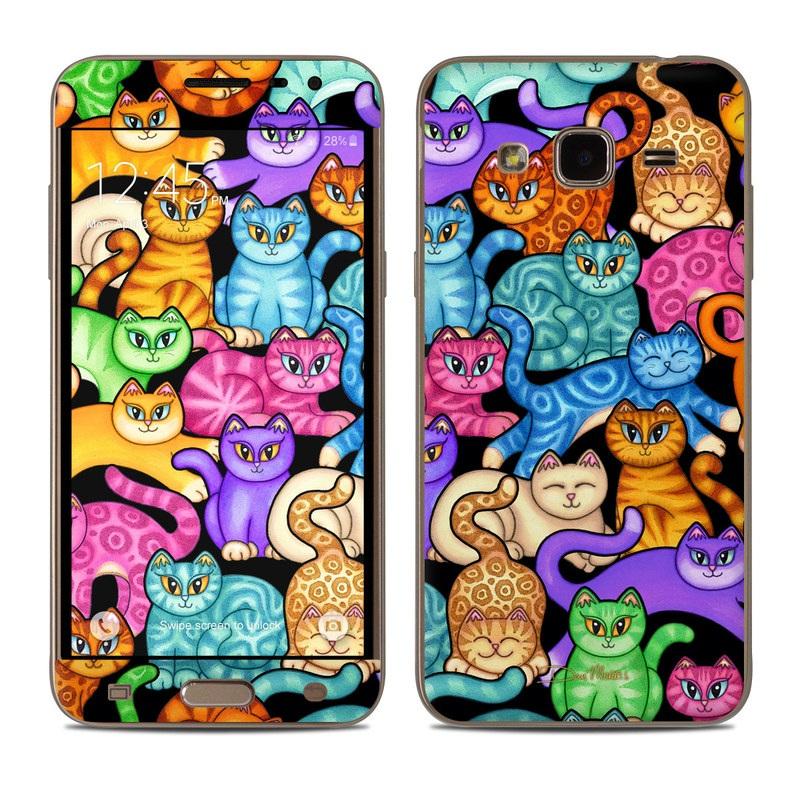 Colorful Kittens Samsung Galaxy J3 Skin