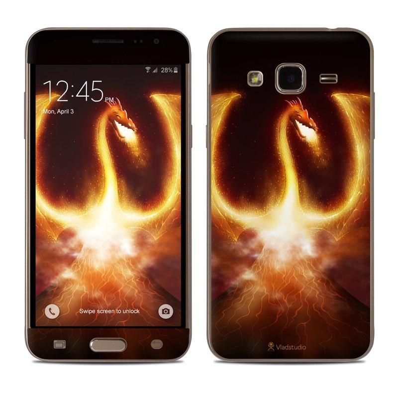 Fire Dragon Samsung Galaxy J3 Skin