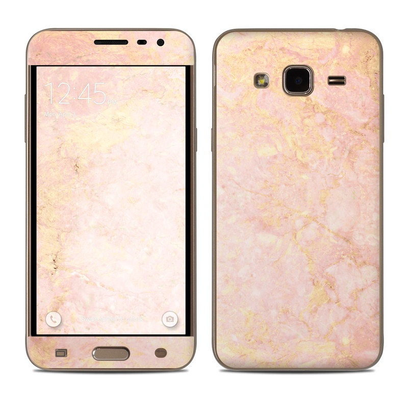 Rose Gold Marble Samsung Galaxy J3 Skin