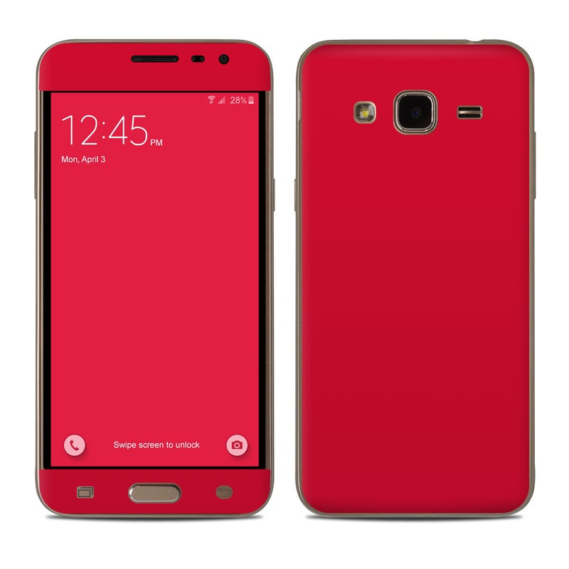 Solid State Red Samsung Galaxy J3 Skin