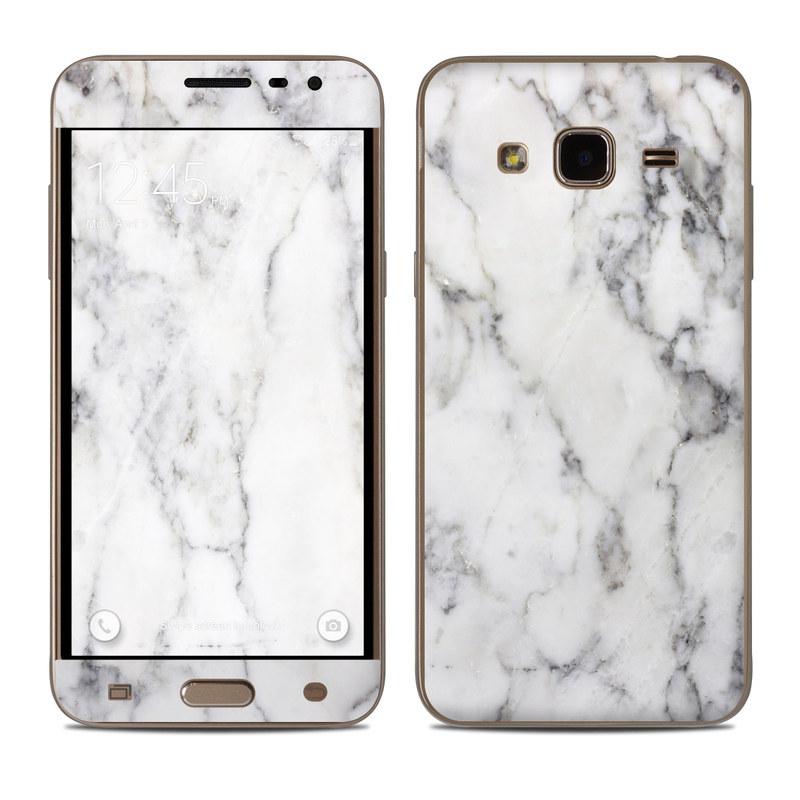 White Marble Samsung Galaxy J3 Skin