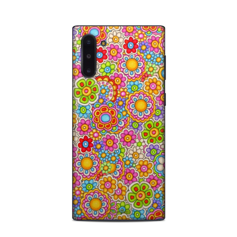Samsung Galaxy Note 10 Skin design of Pattern, Design, Textile, Visual arts with pink, red, orange, yellow, green, blue, purple colors