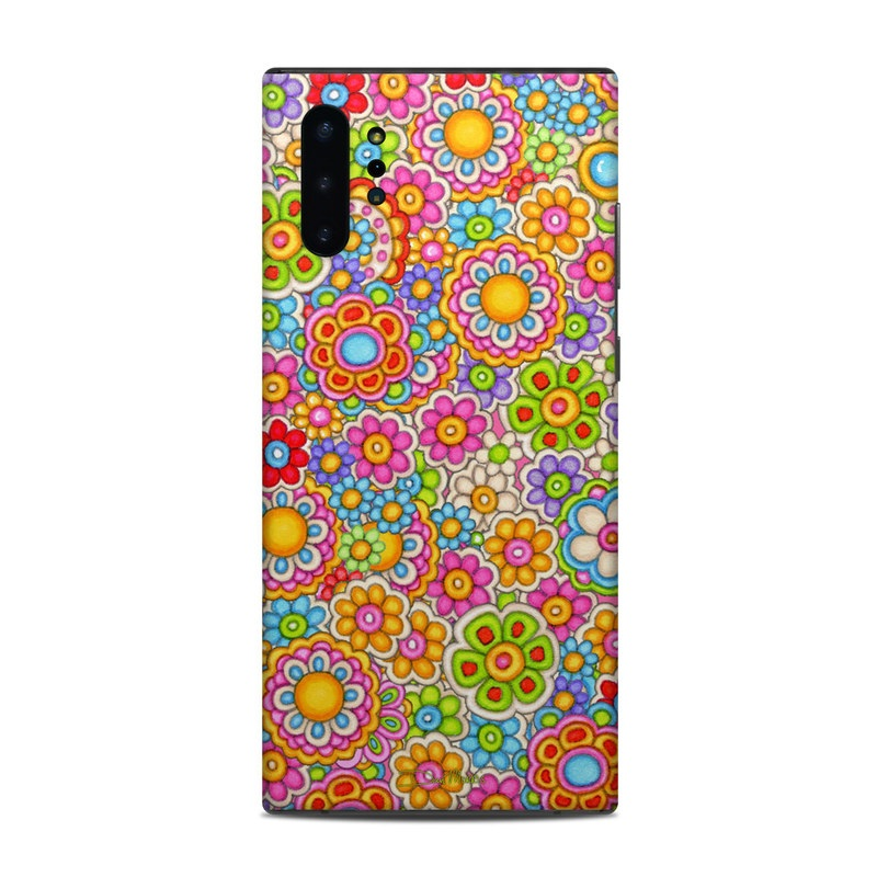 Samsung Galaxy Note 10 Plus Skin design of Pattern, Design, Textile, Visual arts with pink, red, orange, yellow, green, blue, purple colors