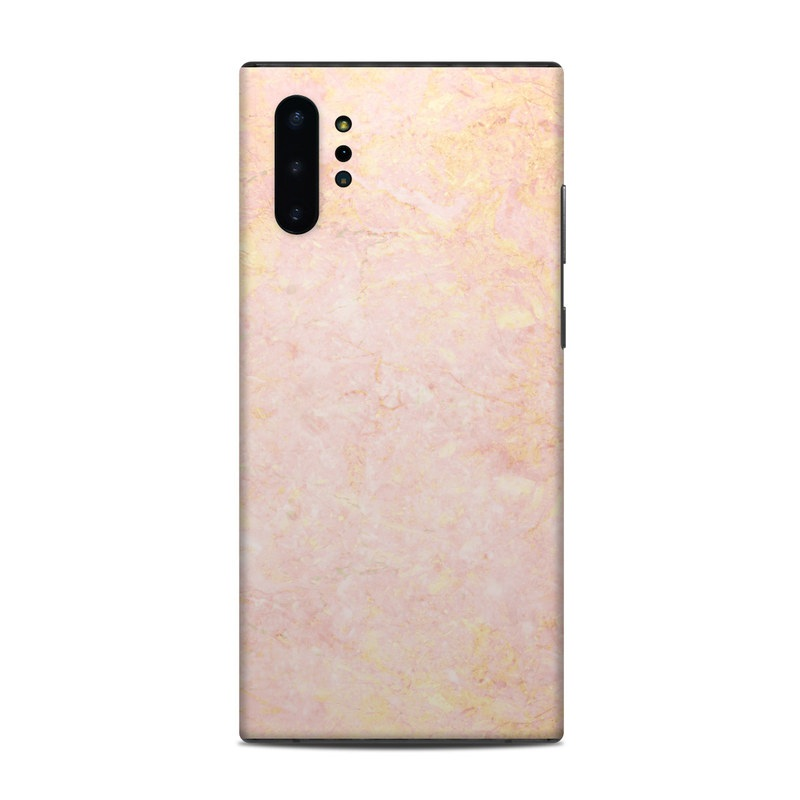 Samsung Galaxy Note 10 Plus Skin design of Pink, Peach, Wallpaper, Pattern with pink, yellow, orange colors