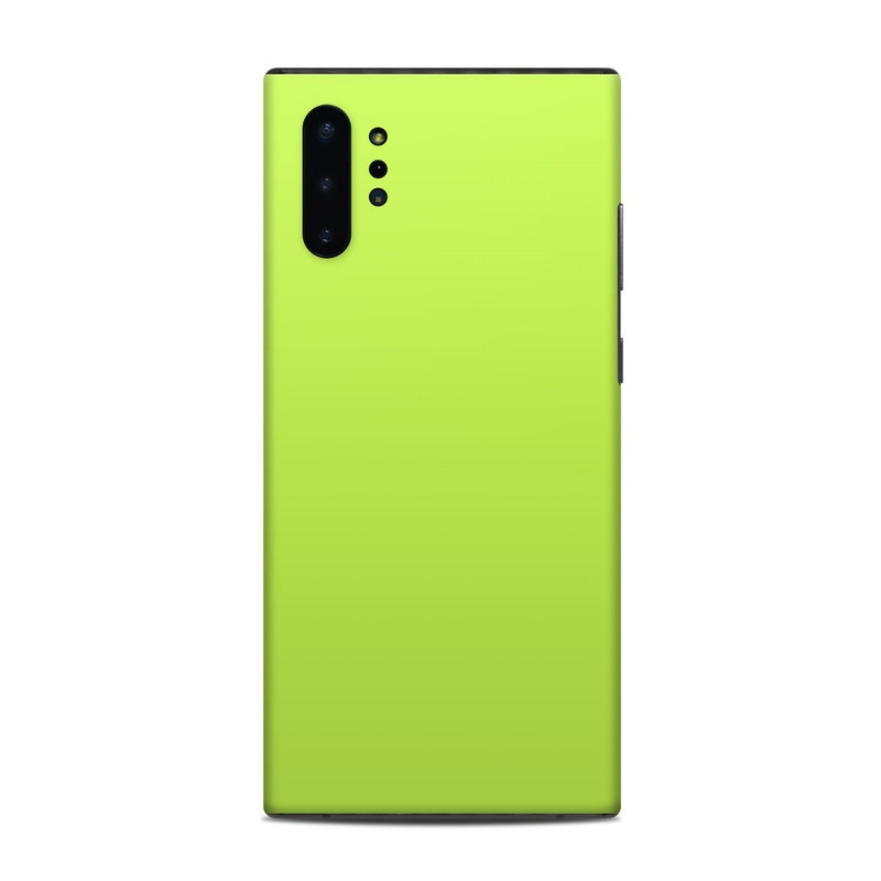 Samsung Galaxy Note 10 Plus Skin design of Green, Yellow, Text, Leaf, Font, Grass with green colors