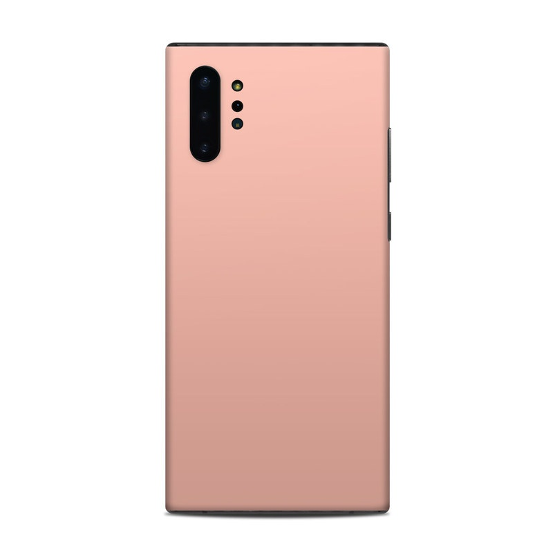 Samsung Galaxy Note 10 Plus Skin design of Orange, Pink, Peach, Brown, Red, Yellow, Material property, Font, Beige with pink colors