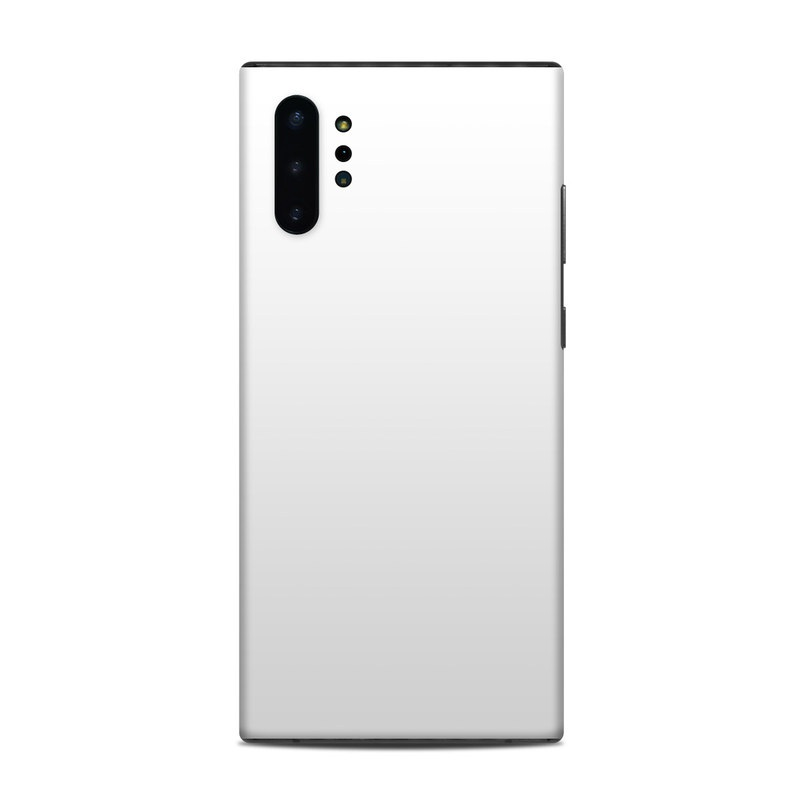 Samsung Galaxy Note 10 Plus Skin design of White, Black, Line with white colors