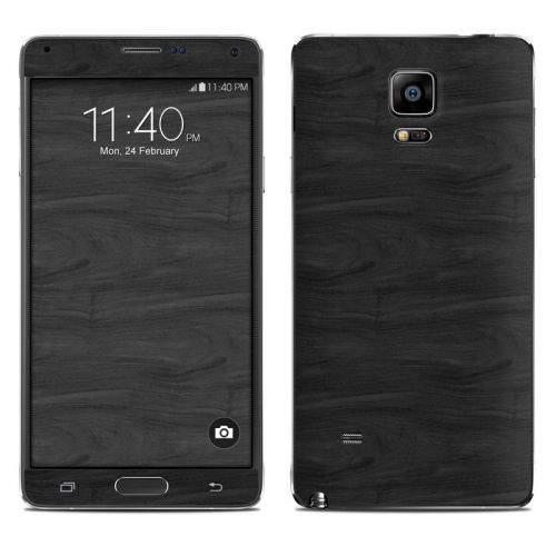 Black Woodgrain Galaxy Note 4 Skin
