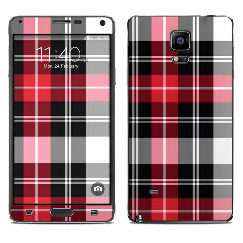 Red Plaid Galaxy Note 4 Skin