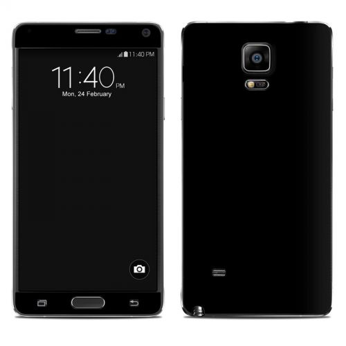 Solid State Black Galaxy Note 4 Skin