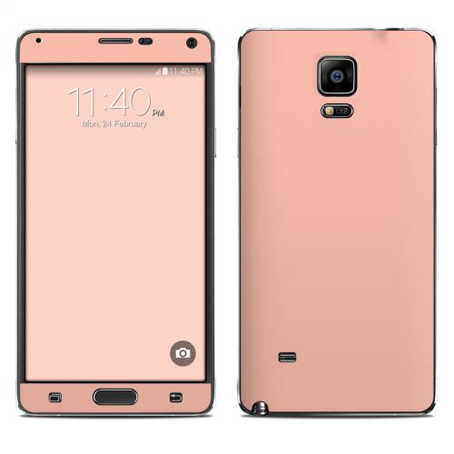 Solid State Peach Galaxy Note 4 Skin