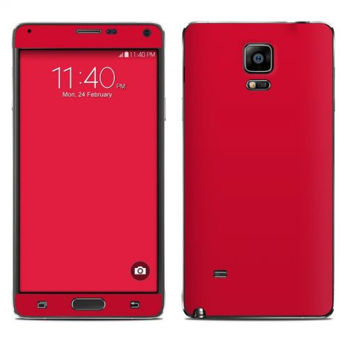 Solid State Red Galaxy Note 4 Skin