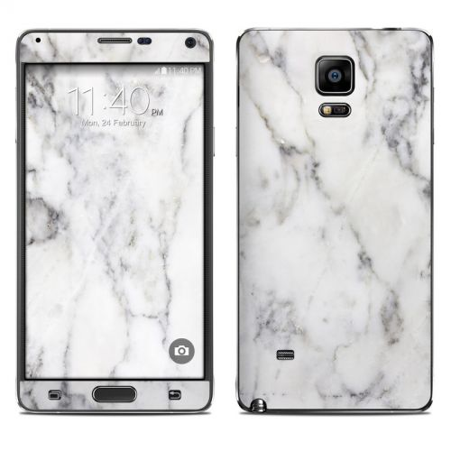 White Marble Galaxy Note 4 Skin
