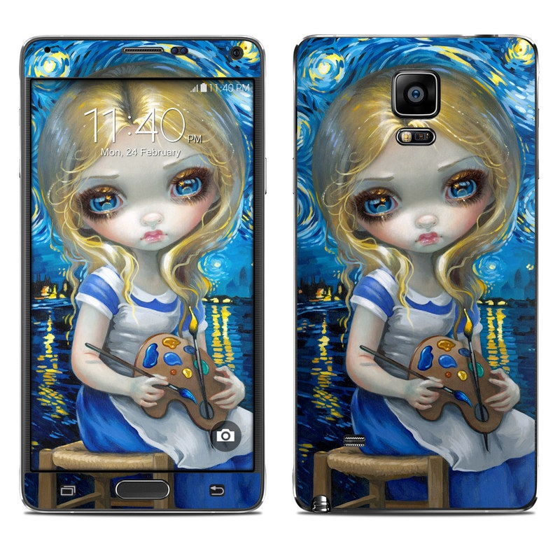 Alice in a Van Gogh Galaxy Note 4 Skin