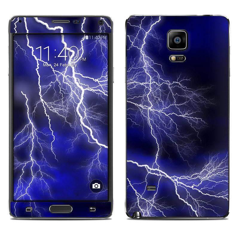 Apocalypse Blue Galaxy Note 4 Skin
