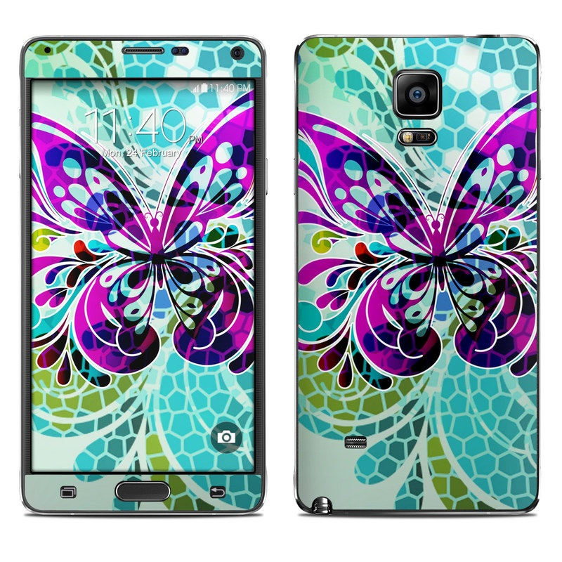 Butterfly Glass Galaxy Note 4 Skin