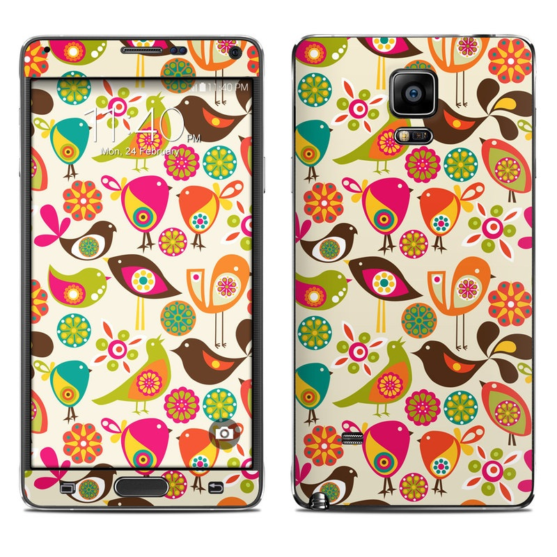 Bird Flowers Galaxy Note 4 Skin