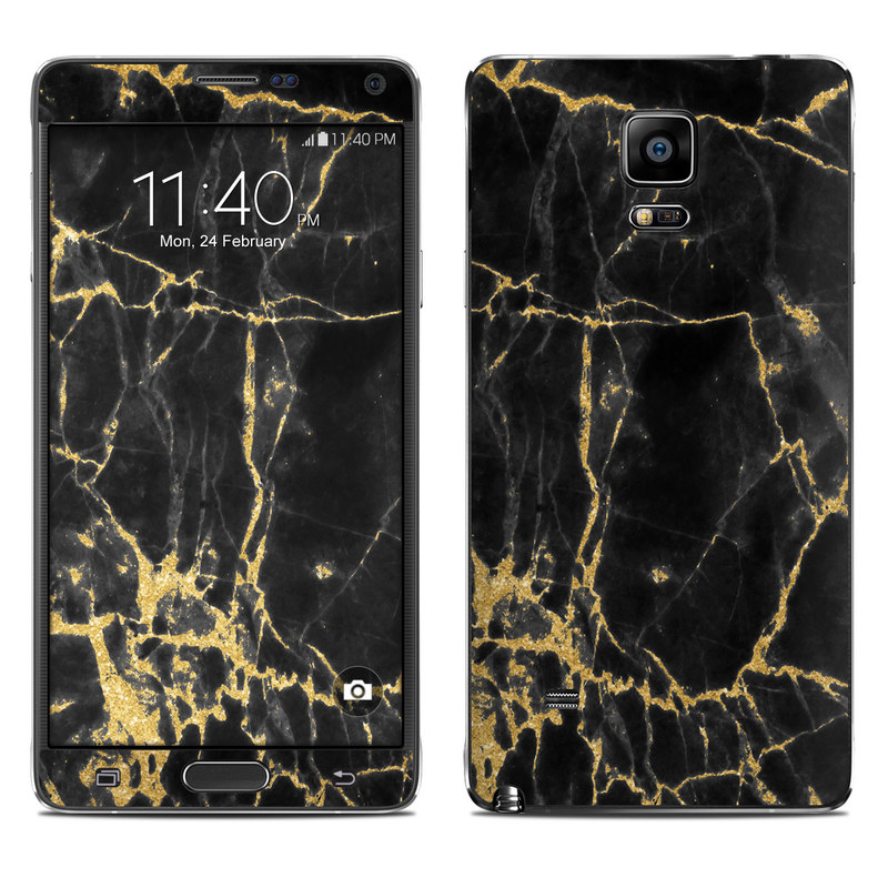Black Gold Marble Galaxy Note 4 Skin