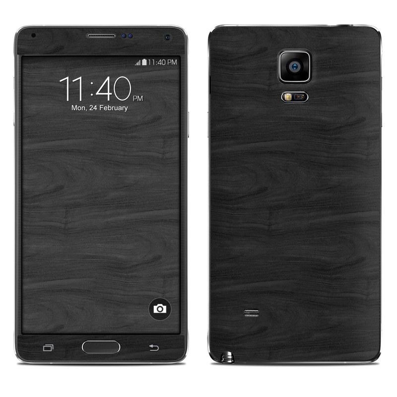 Black Woodgrain Galaxy Note 4 Skin