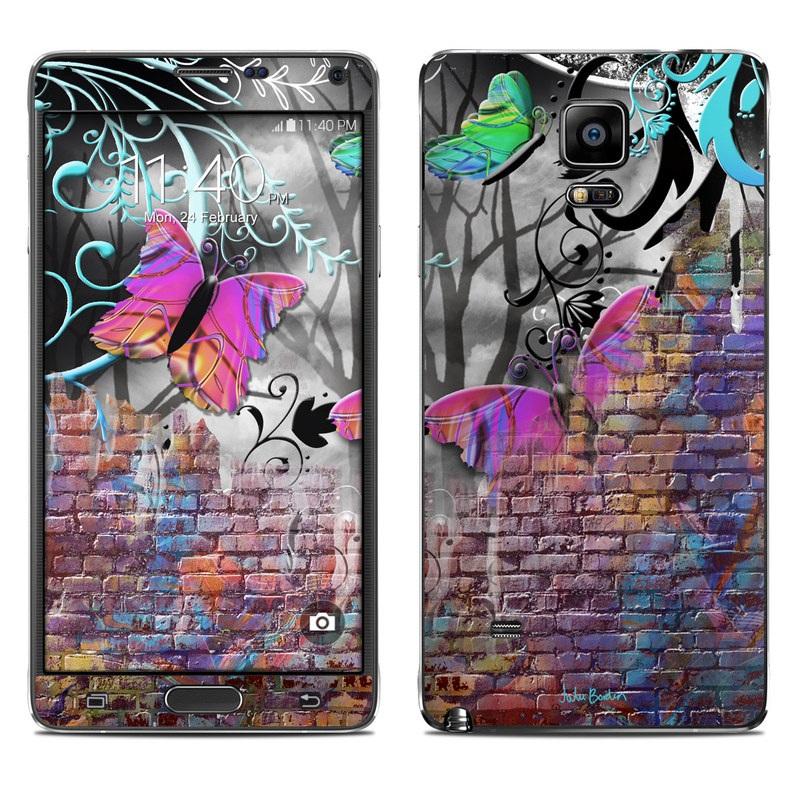Butterfly Wall Galaxy Note 4 Skin
