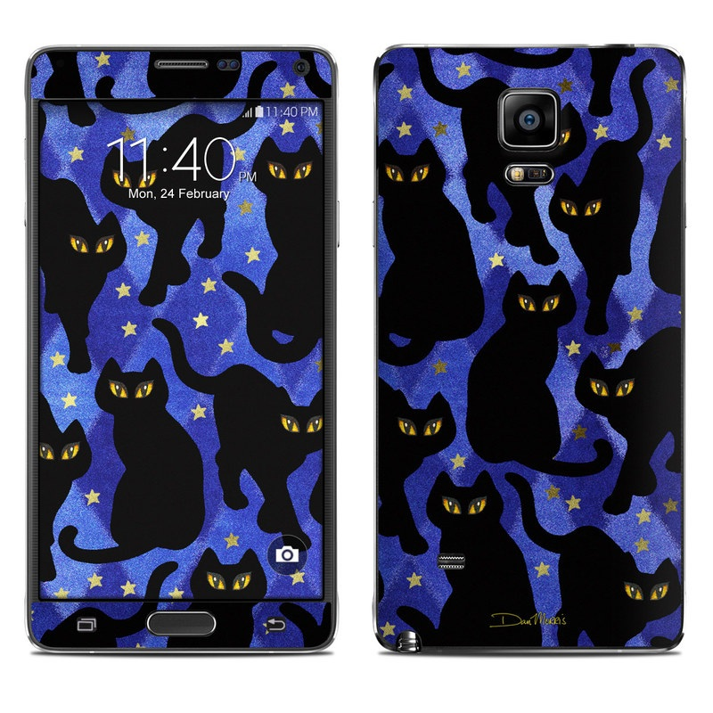 Cat Silhouettes Galaxy Note 4 Skin
