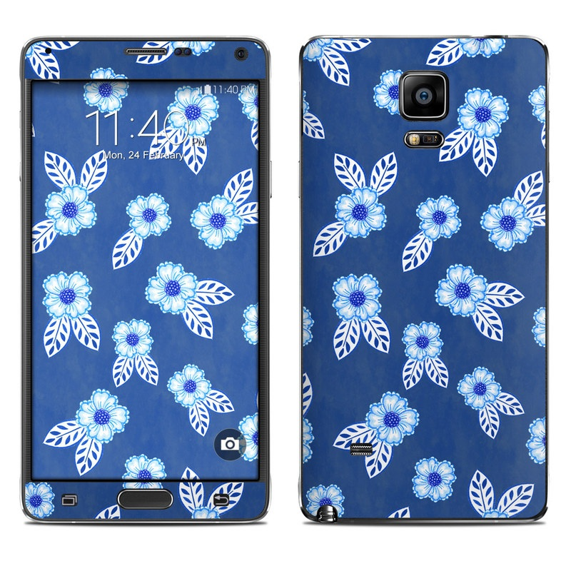 China Blue Galaxy Note 4 Skin