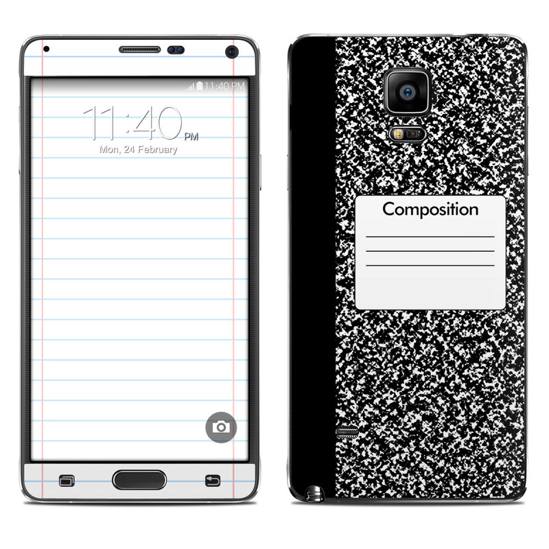 Composition Notebook Galaxy Note 4 Skin