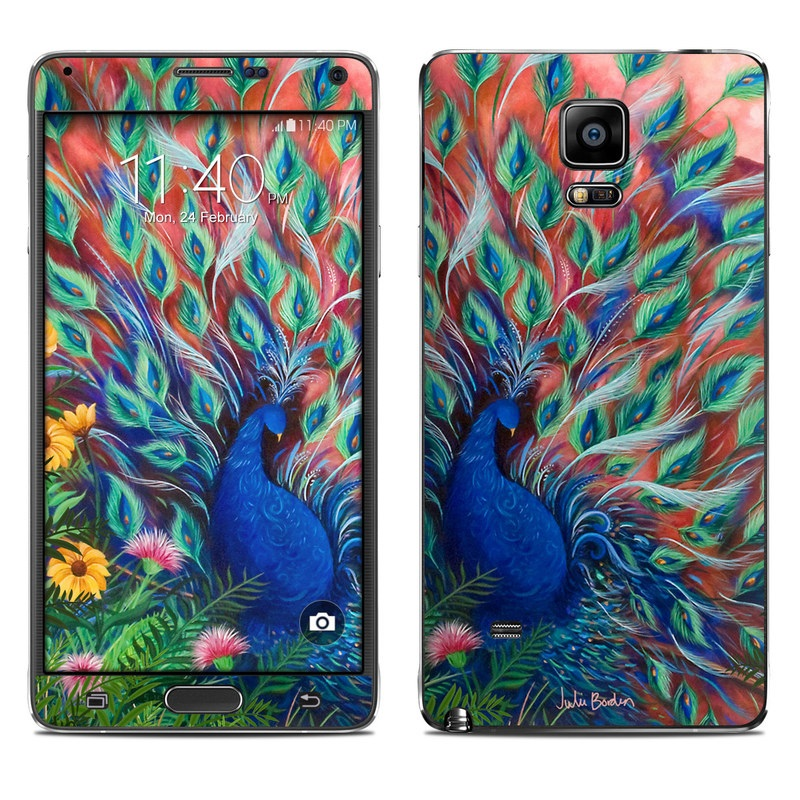 Coral Peacock Galaxy Note 4 Skin