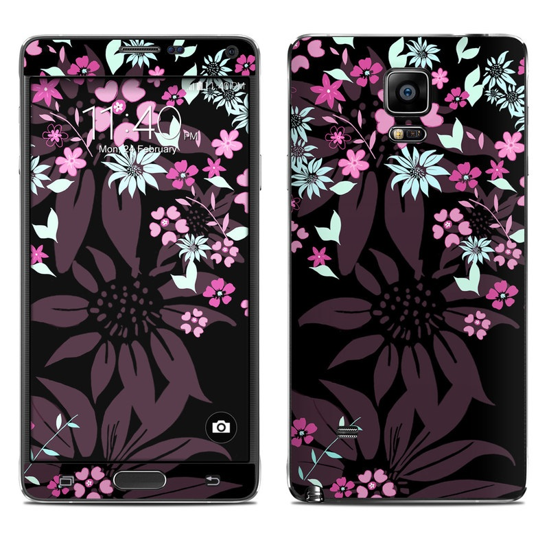Dark Flowers Galaxy Note 4 Skin