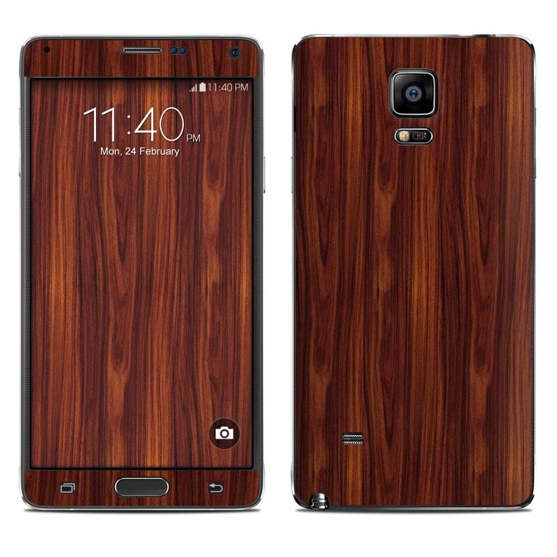 Dark Rosewood Galaxy Note 4 Skin