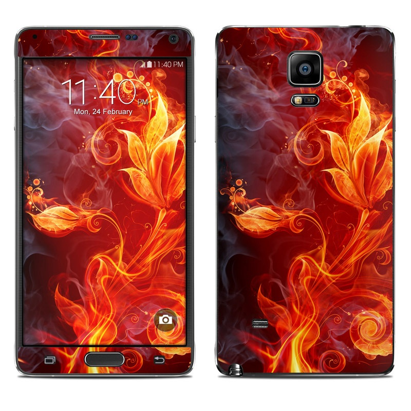 Samsung Galaxy Note 4 Skin design of Flame, Fire, Heat, Red, Orange, Fractal art, Graphic design, Geological phenomenon, Design, Organism with black, red, orange colors