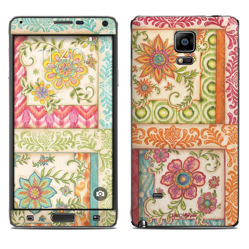 Ikat Floral Galaxy Note 4 Skin