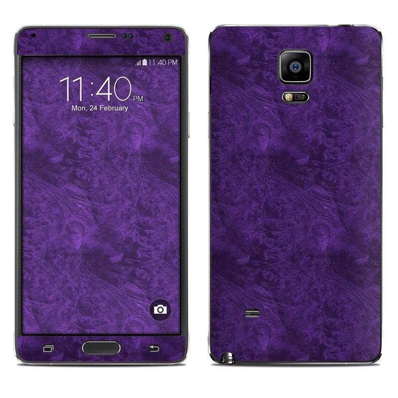 Purple Lacquer Galaxy Note 4 Skin
