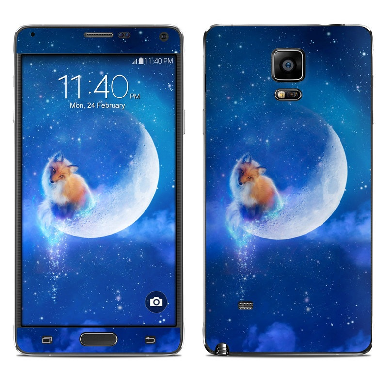 Samsung Galaxy Note 4 Skin design of Sky, Atmosphere, Astronomical object, Outer space, Space, Universe, Illustration, Nebula, Galaxy, Fictional character with blue, black, gray colors