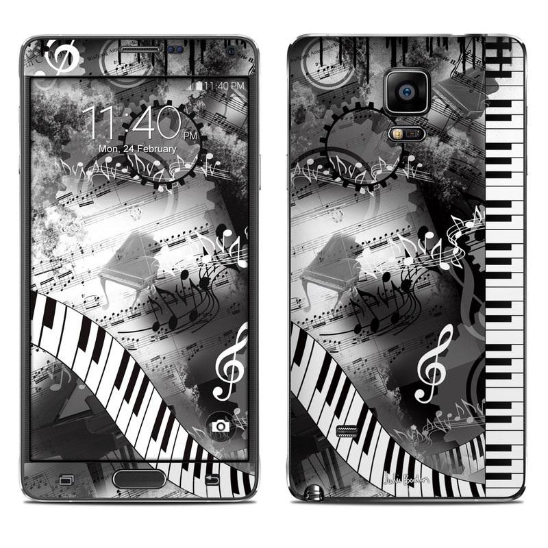 Piano Pizazz Galaxy Note 4 Skin