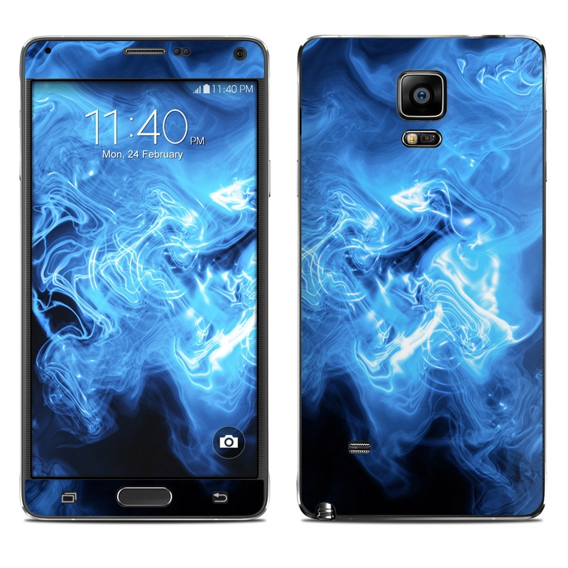 Blue Quantum Waves Galaxy Note 4 Skin