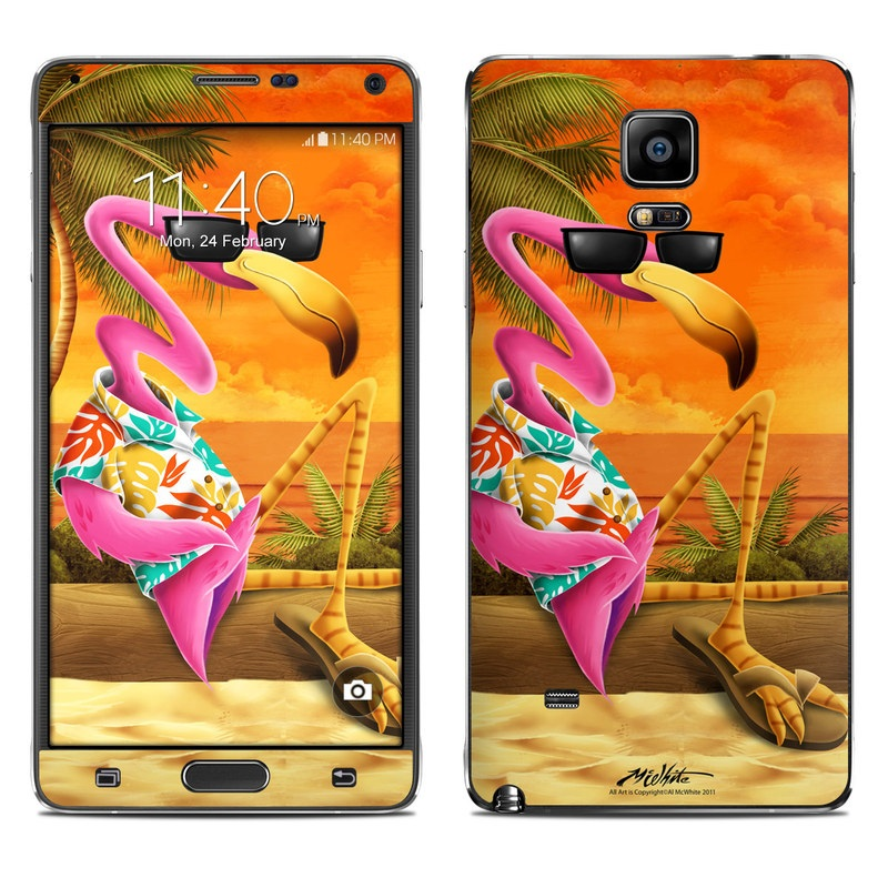 Sunset Flamingo Galaxy Note 4 Skin