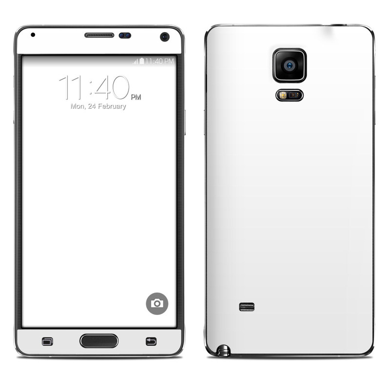 Solid State White Galaxy Note 4 Skin