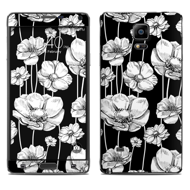Striped Blooms Galaxy Note 4 Skin