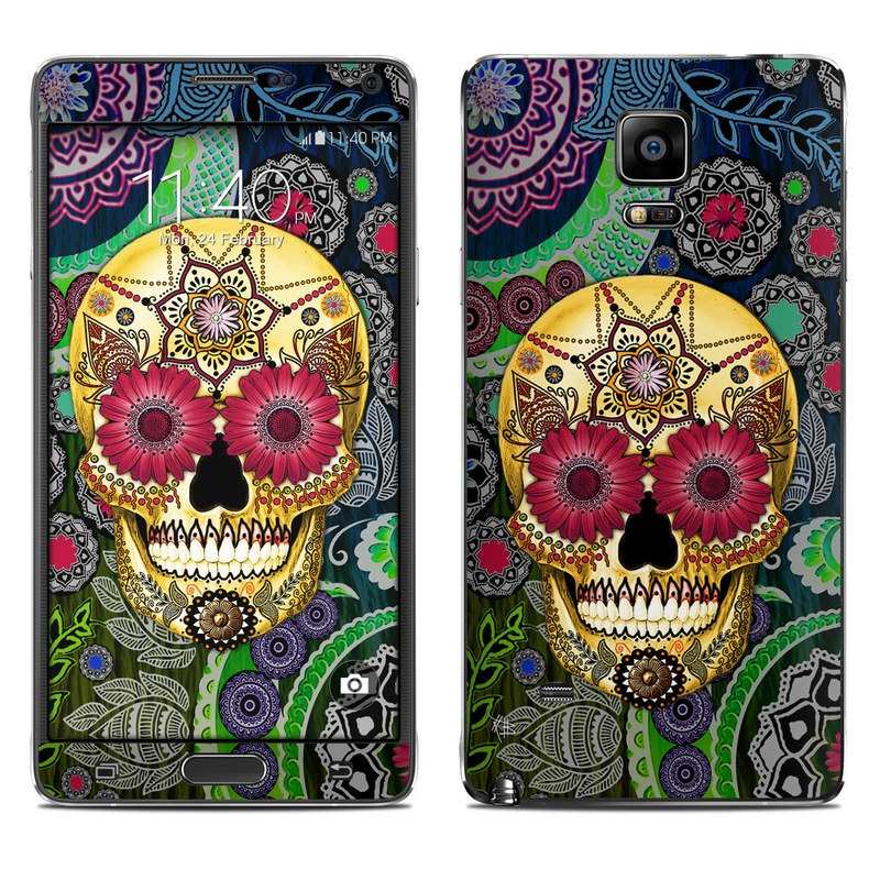 Sugar Skull Paisley Galaxy Note 4 Skin
